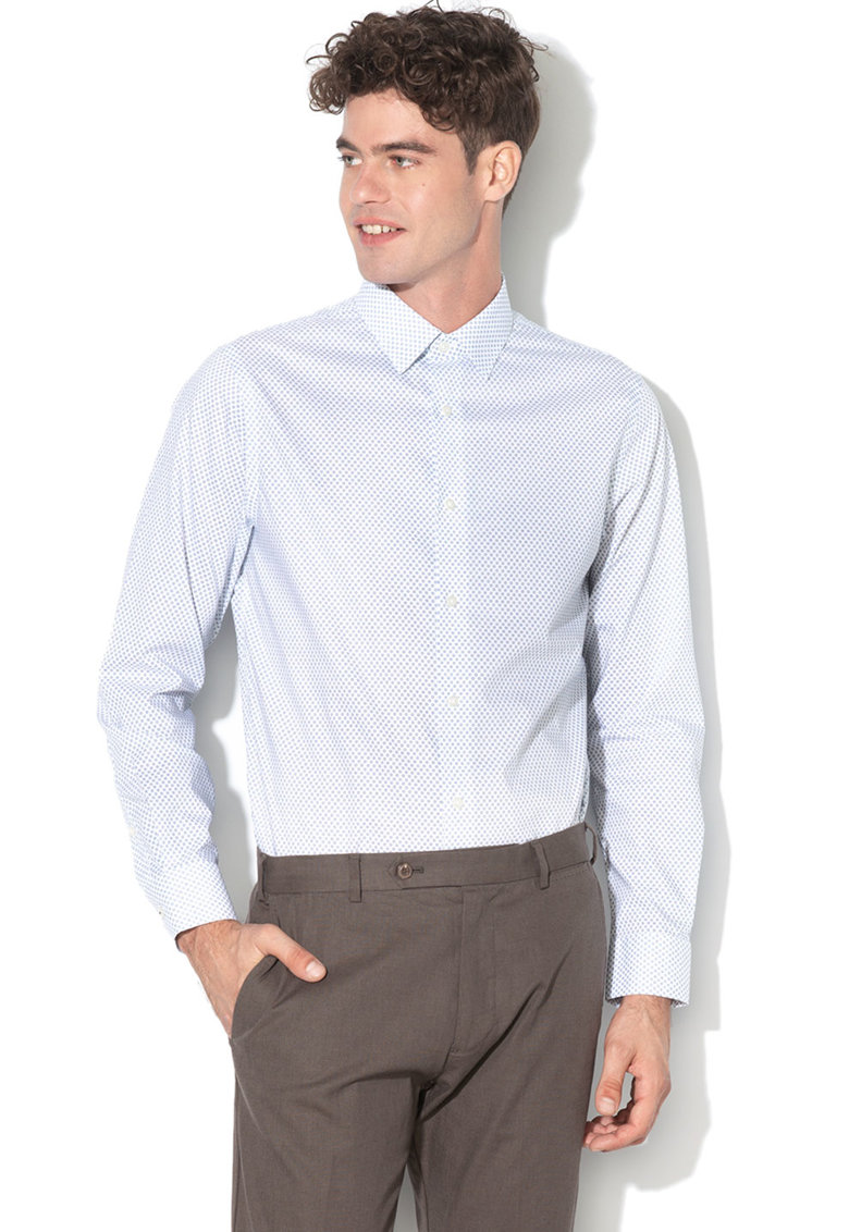 Camasa standard fit cu model cu buline