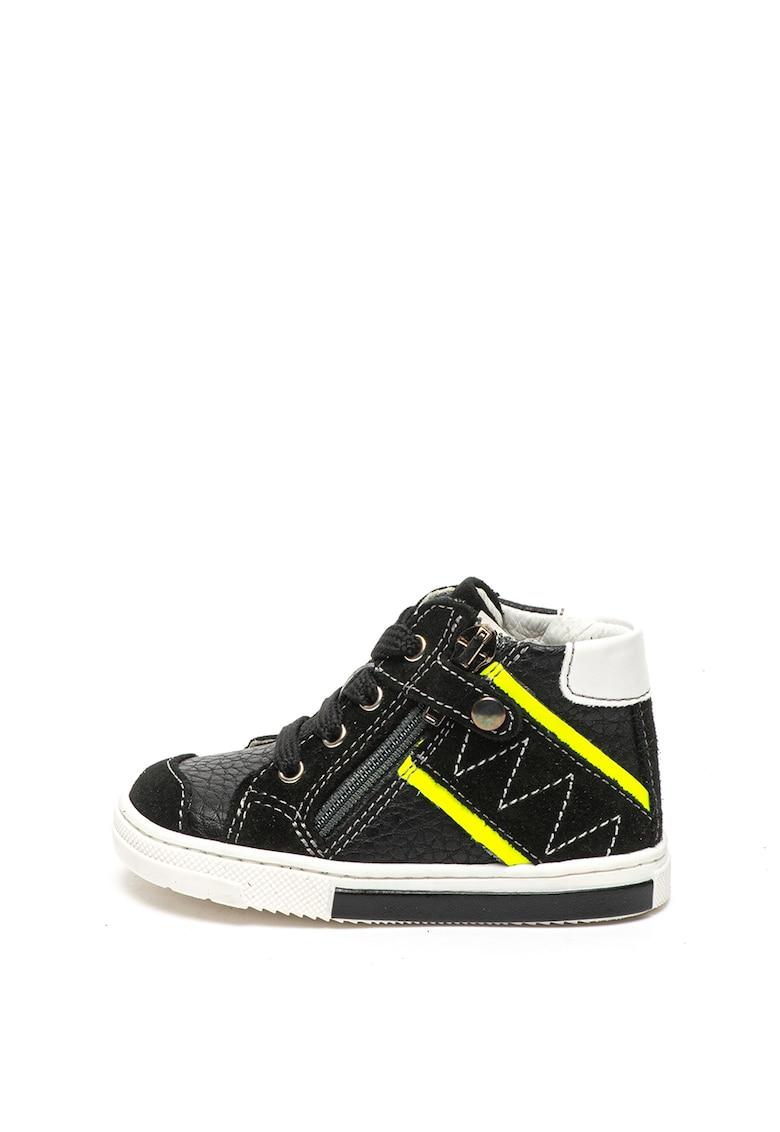 Pantofi sport de piele ecologica - cu insertii de piele intoarsa