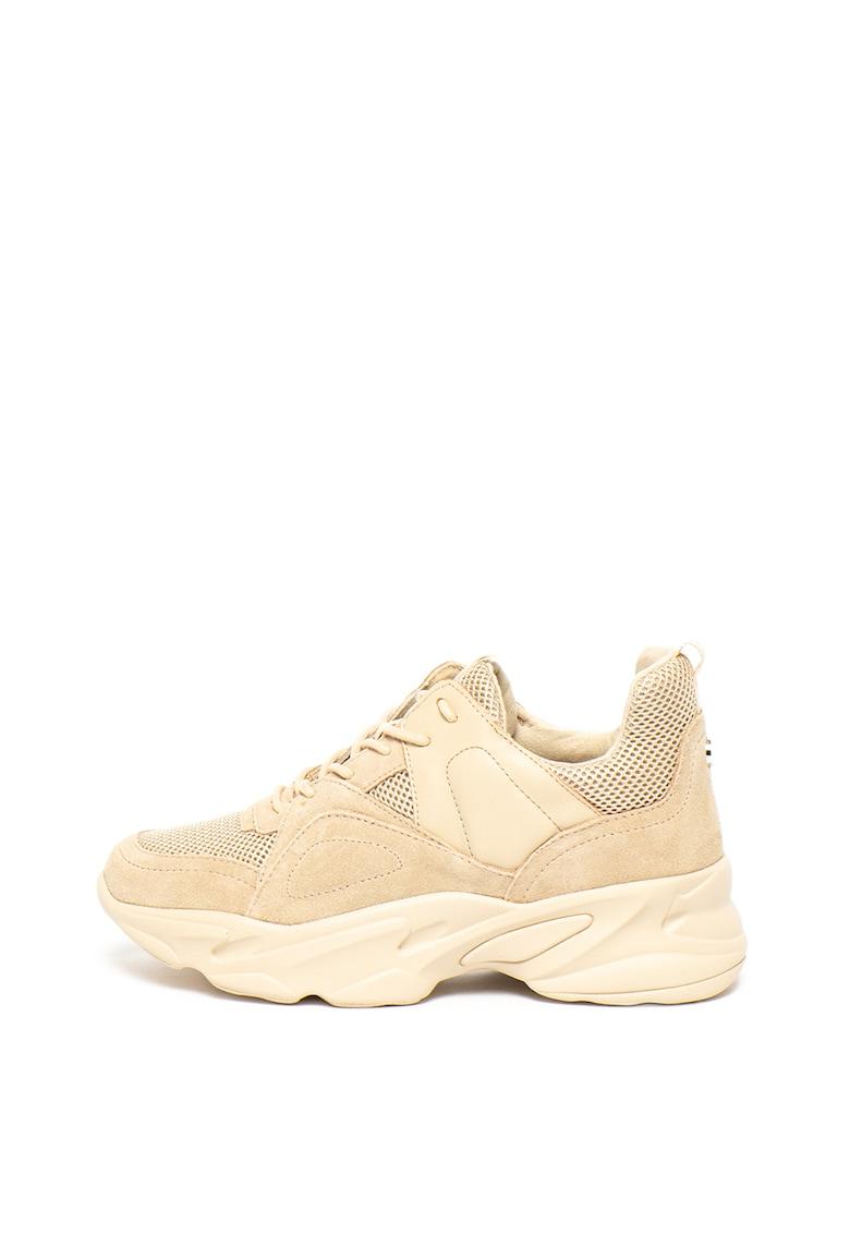Pantofi sport de piele intoarsa cu insertii de plasa Movement
