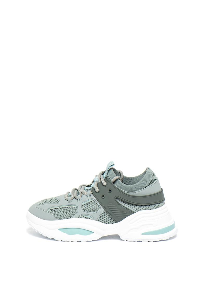 Pantofi sport slip-on cu insertii de plasa Fontina