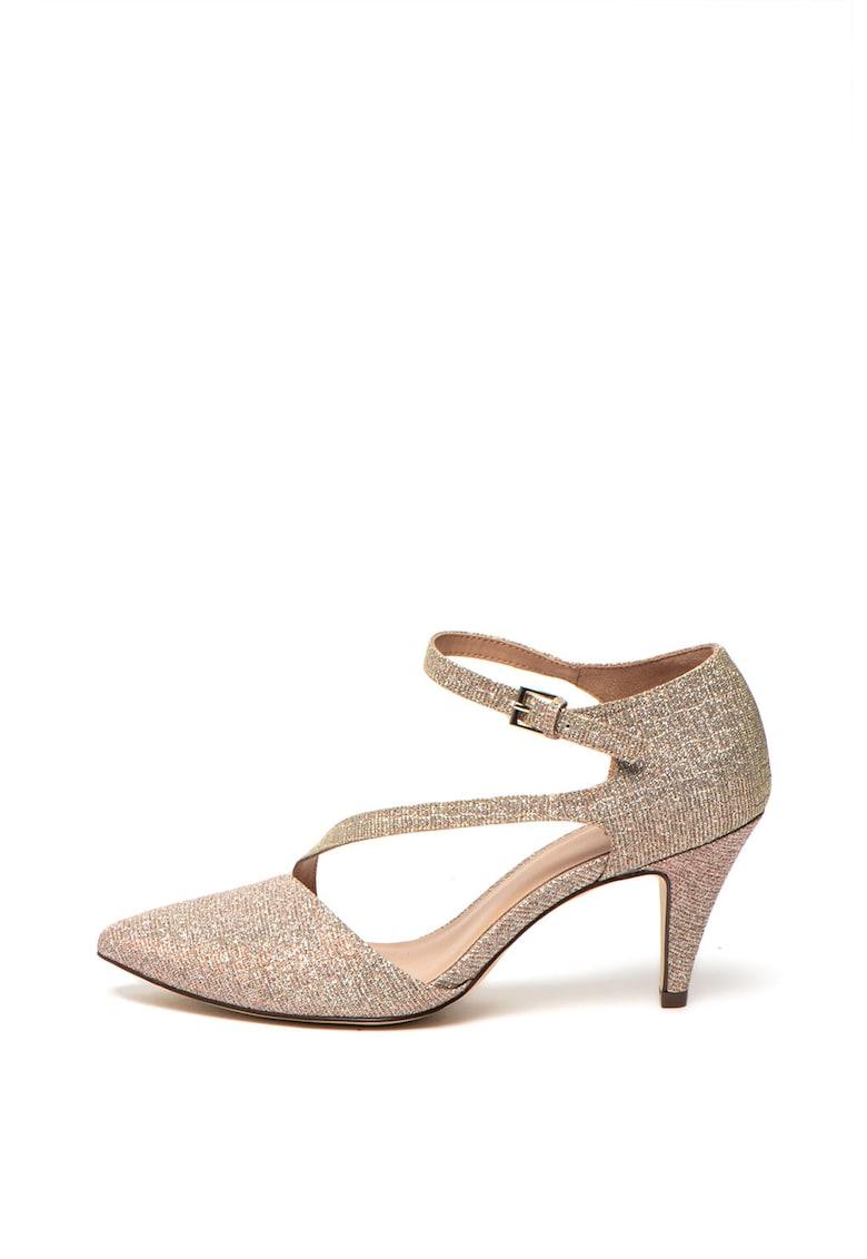 Pantofi cu barete multiple si aspect stralucitor de la Call It Spring