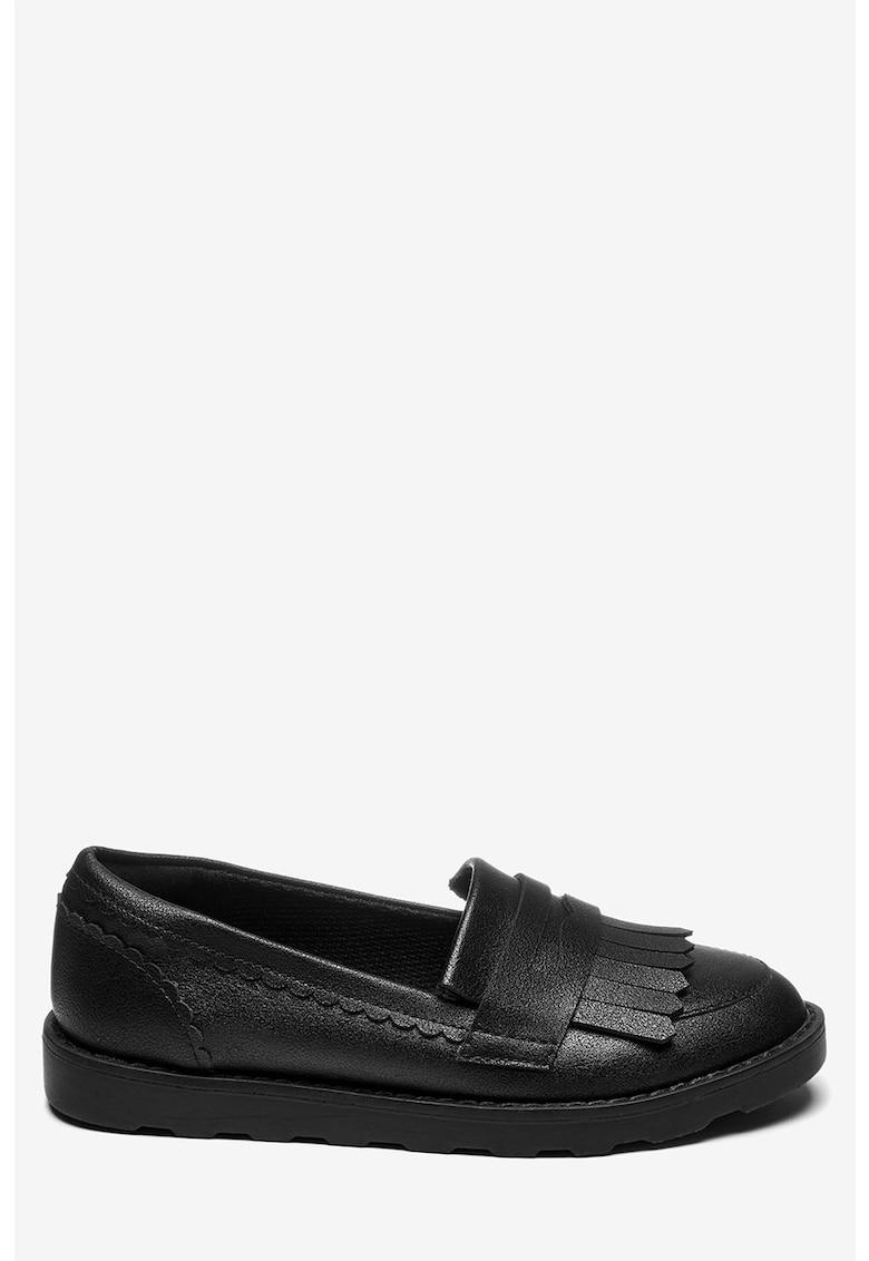 NEXT Pantofi loafer de piele ecologica - cu detaliu cu franjuri