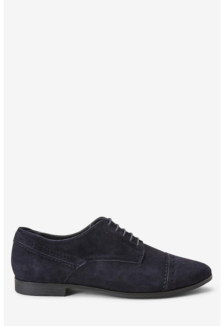 NEXT Pantofi brogue de piele intoarsa - cu amortizare
