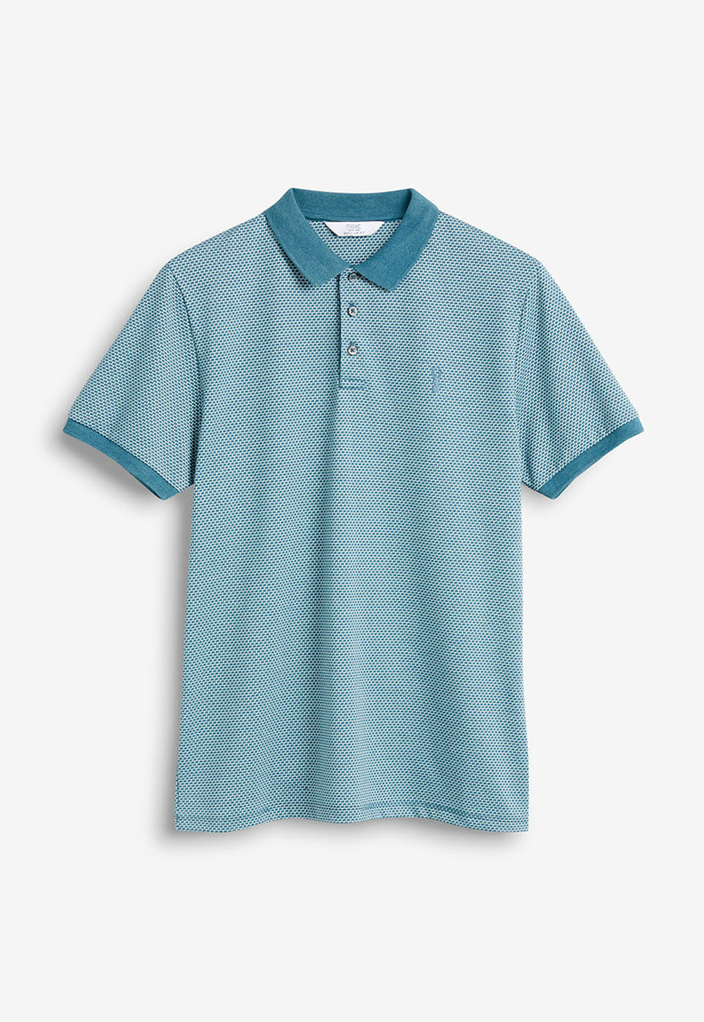 Tricou polo regular fit din pique NEXT