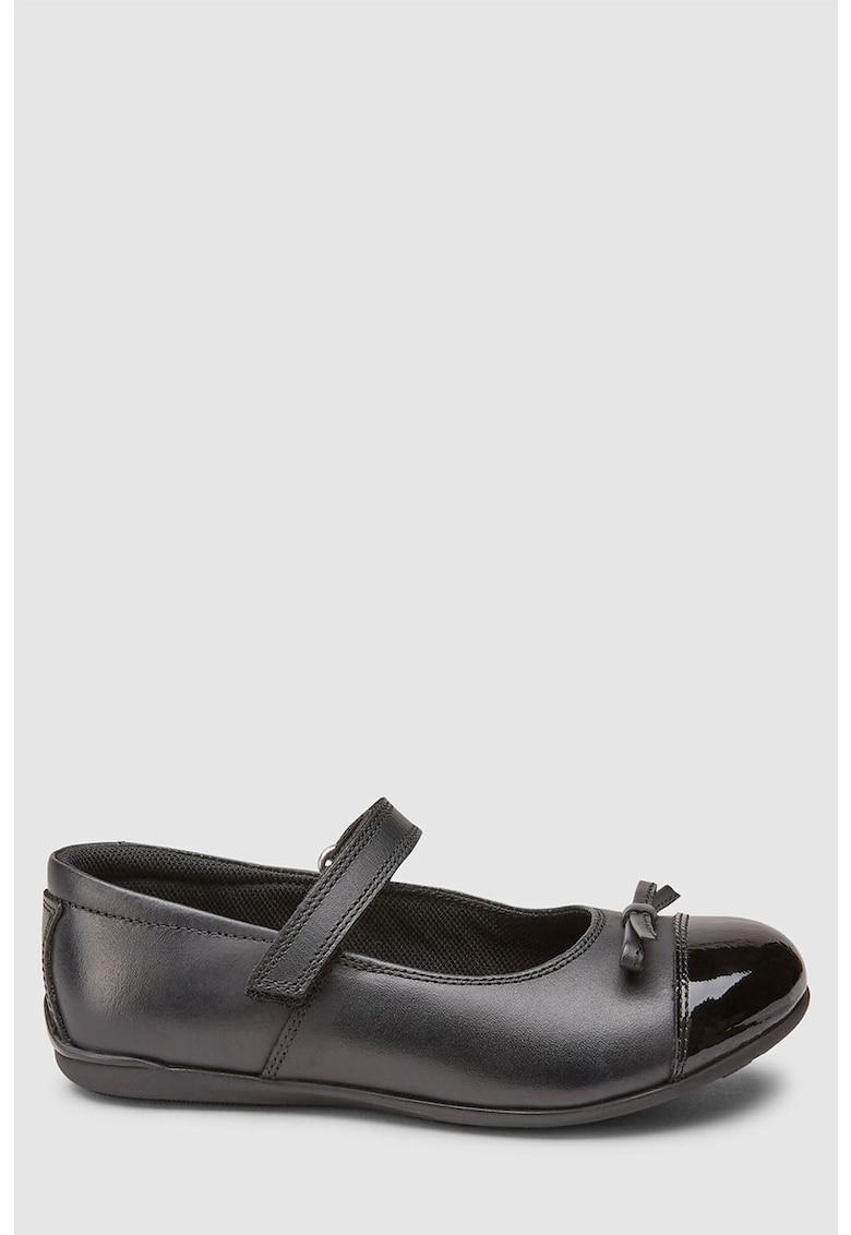 Pantofi Mary Jane de piele cu detaliu funda NEXT