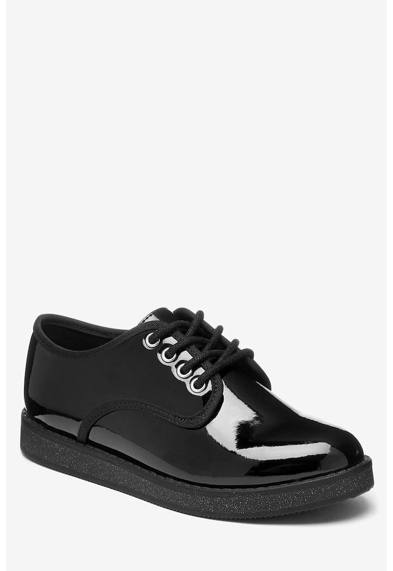 Pantofi de piele ecologica lacuita NEXT
