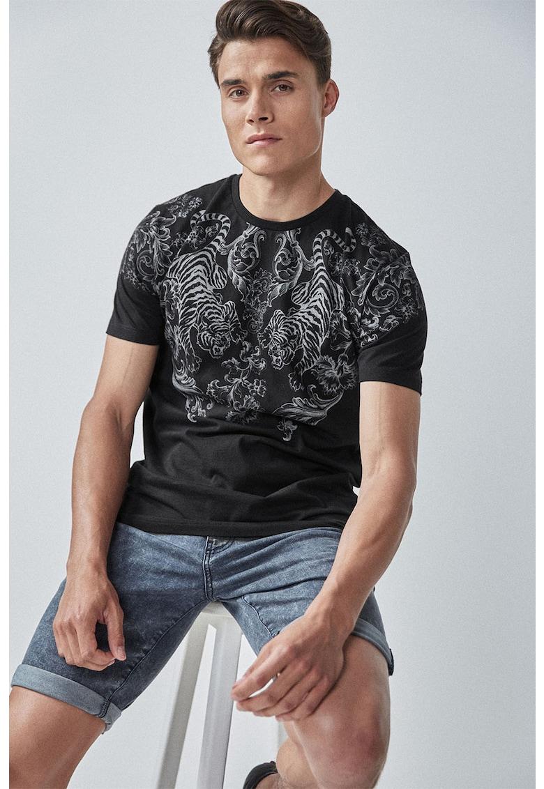 Tricou de bumbac - cu imprimeu grafic