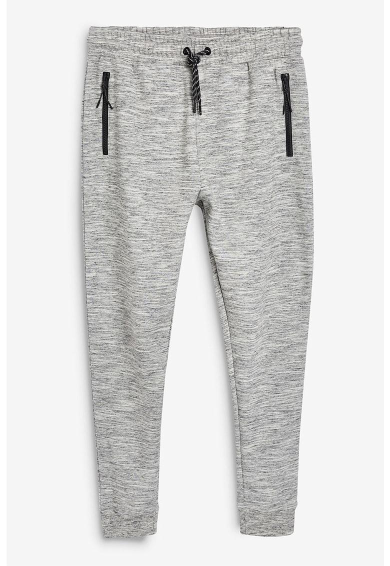 Pantaloni sport slim fit cu snur NEXT