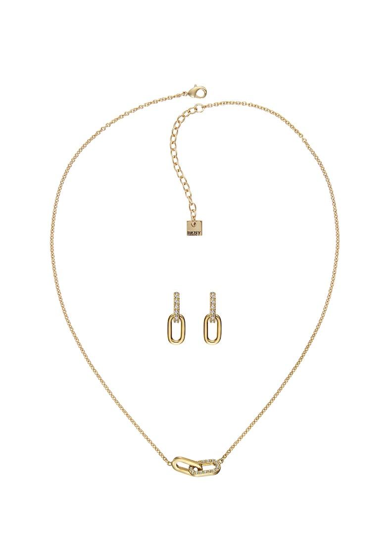 Set de bijuterii cu cristale Swarovski de la DKNY