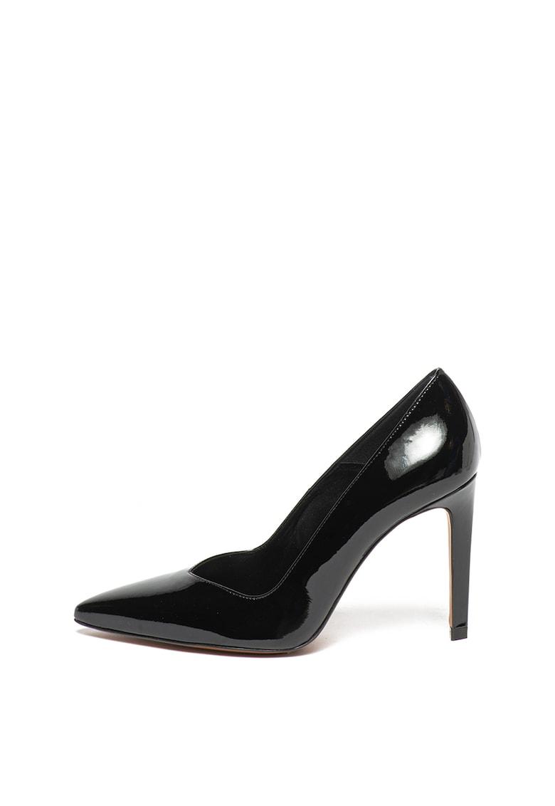 Pantofi stiletto de piele lacuita Ella Karen Millen