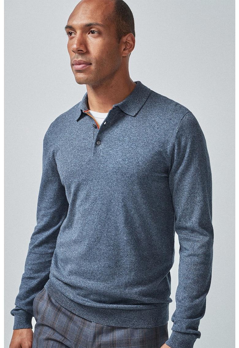 Bluza polo tricotata