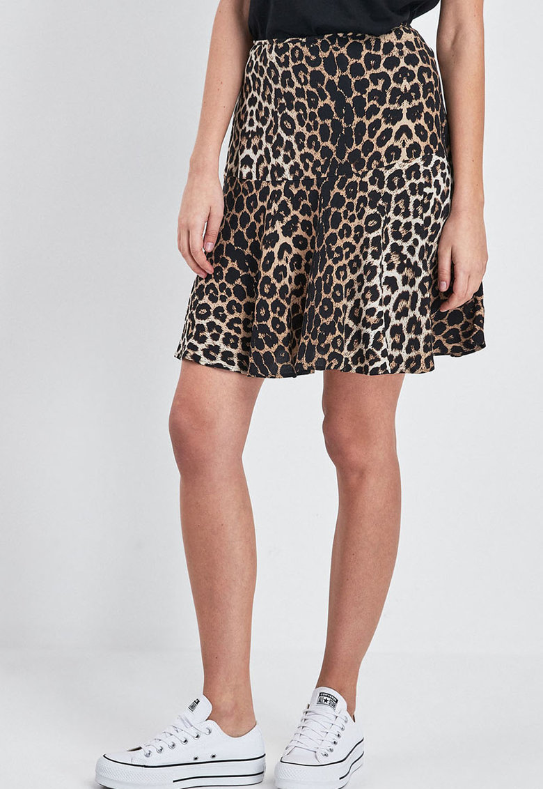 NEXT Fusta evazata cu model animal print