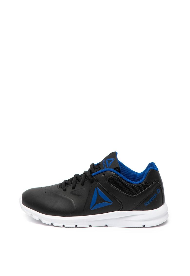 Pantofi sport usori de piele ecologica cu cu garnitura de plasa Rush Runner de la Reebok