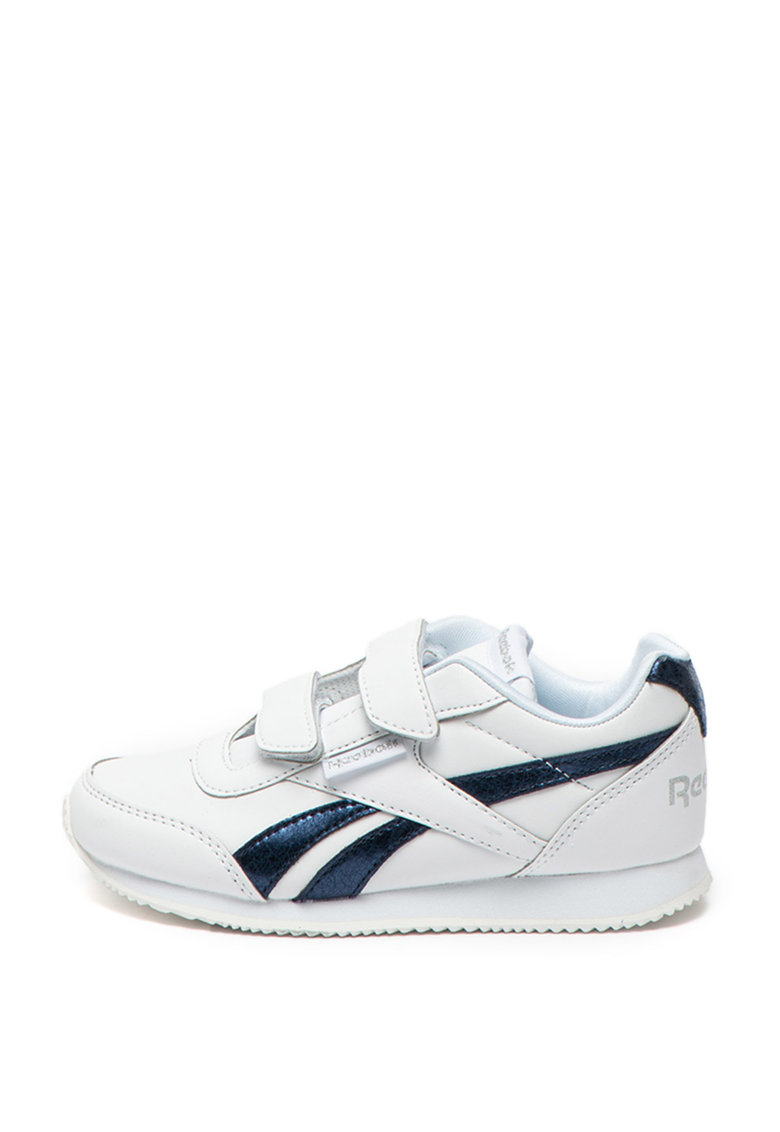 Pantofi sport de piele ecologica cu garnitura metalizata Royal Reebok