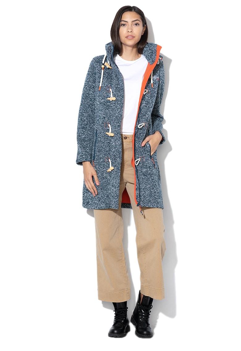 Palton duffle cu captuseala din fleece Tantastique fashiondays.ro