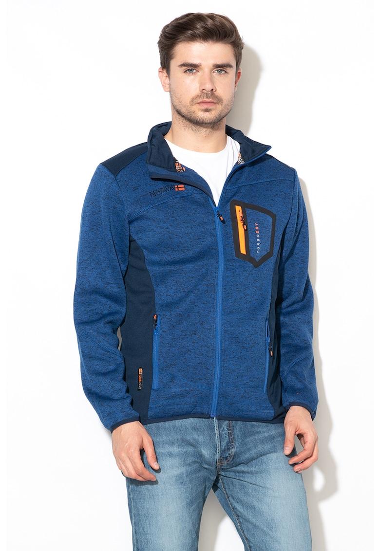 Bluza sport cu fermoar si aspect tricotat Urval