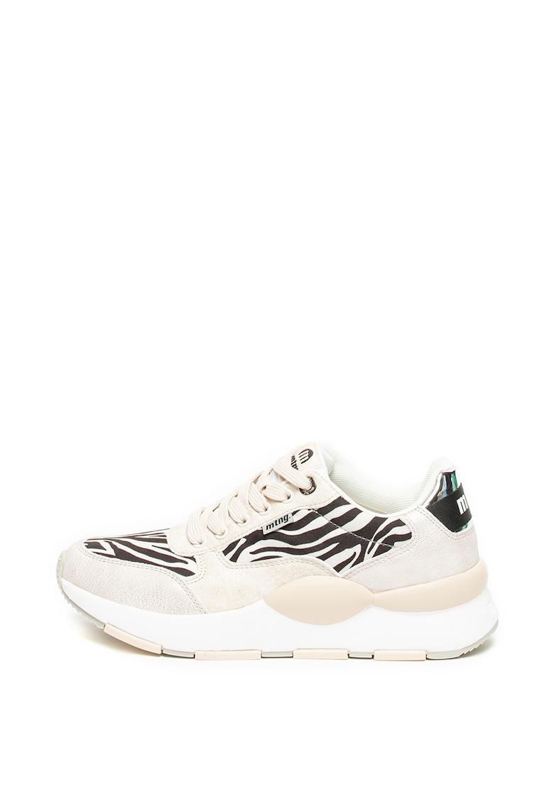Pantofi sport de piele ecologica cu brant moale Breath System
