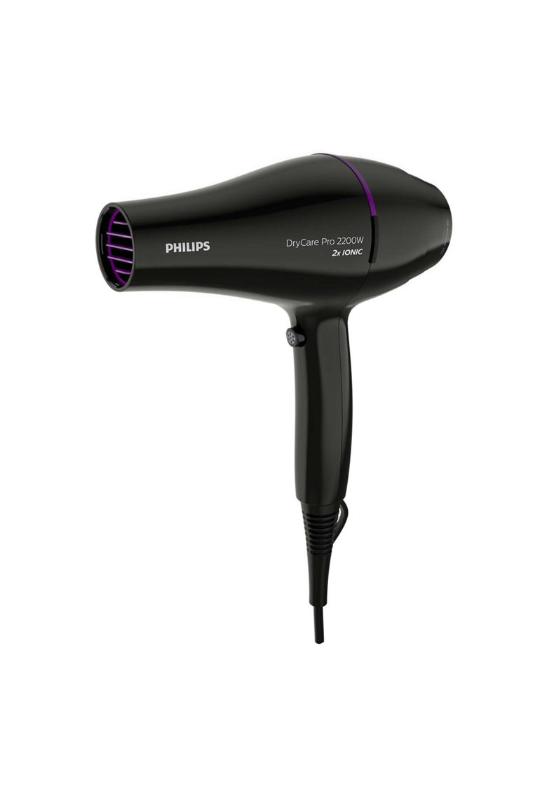 Philips Uscator de par  BHD274/00 - 2200W - tehnologie Thermo Protect - motor CA - 6 setari de viteza/temperatura - ingrijire cu ioni - concentrator - difuzor de volum - Negru