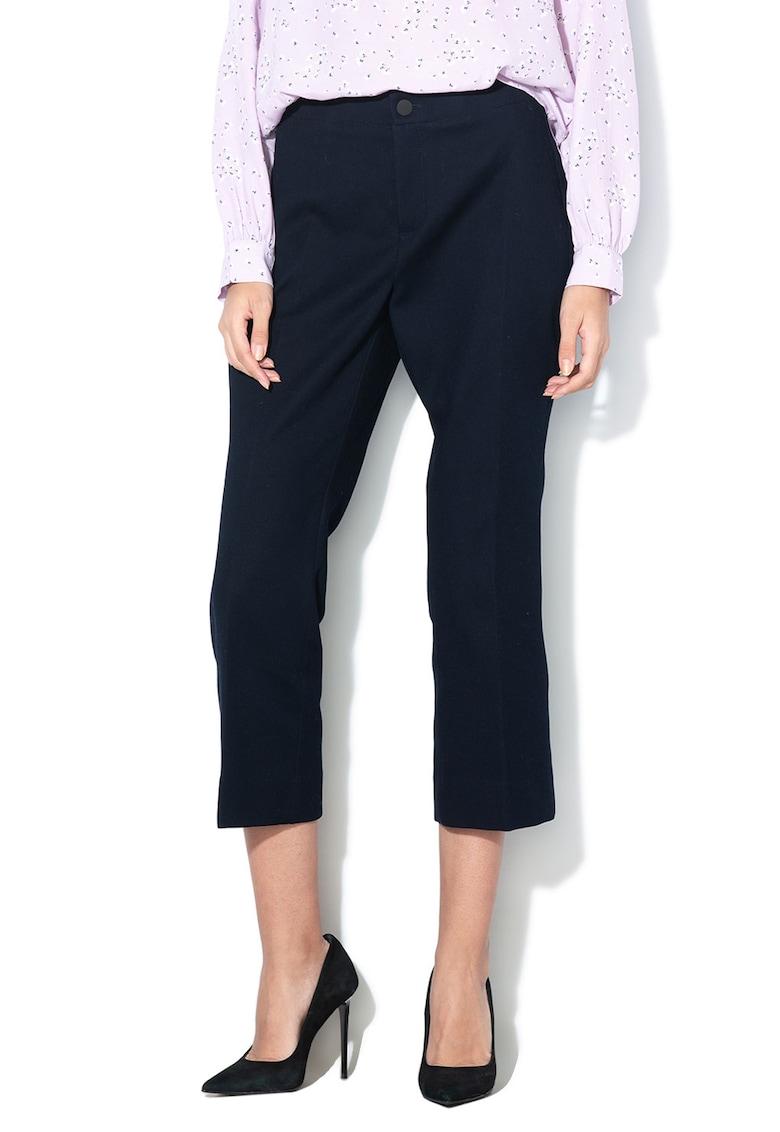 Pantaloni crop cu croiala dreapta