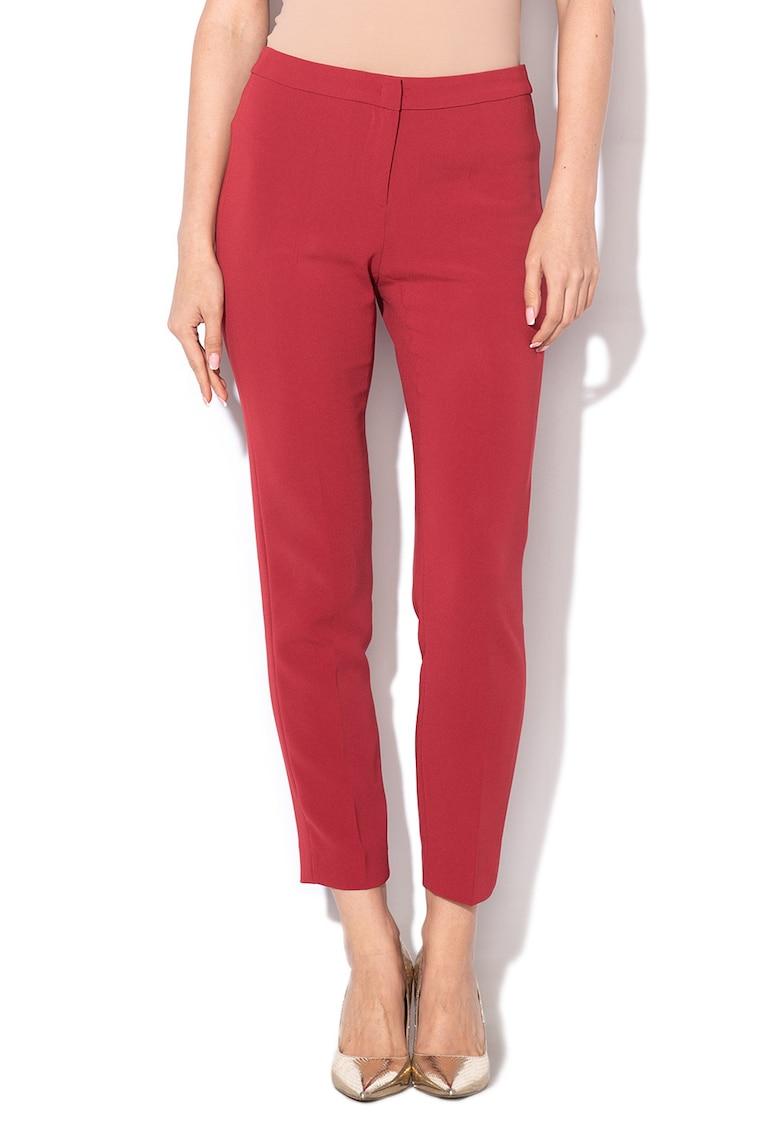 Pantaloni crop Lampone