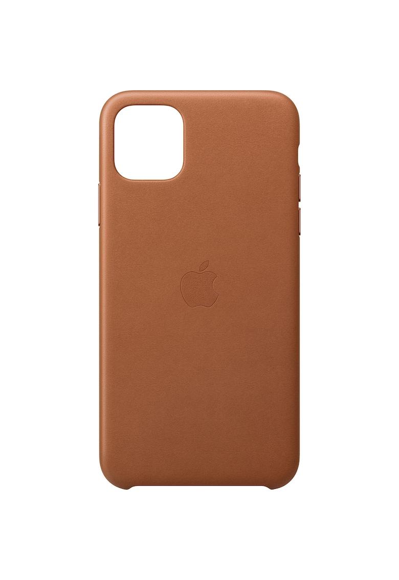 Husa de protectie pentru iPhone 11 Pro Max - Piele - Saddle Brown