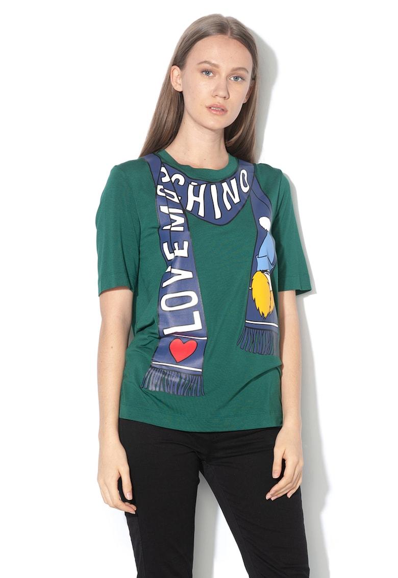 Tricou din amestec de modal - cu imprimeu logo