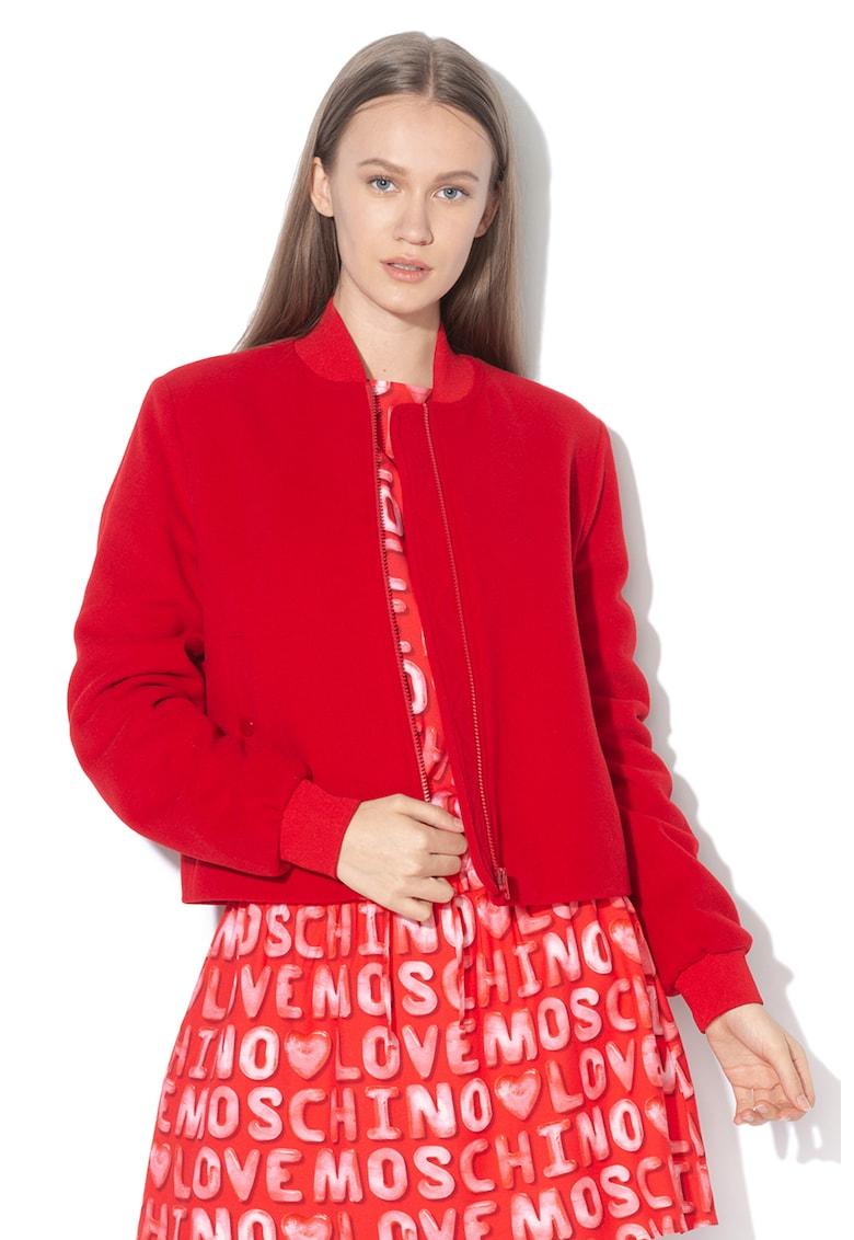 Jacheta bomber din amestec de lana