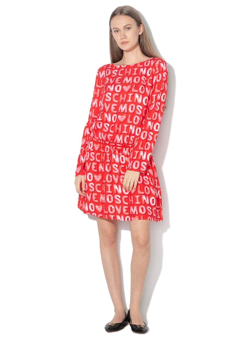 Rochie mini cu imprimeu logo z