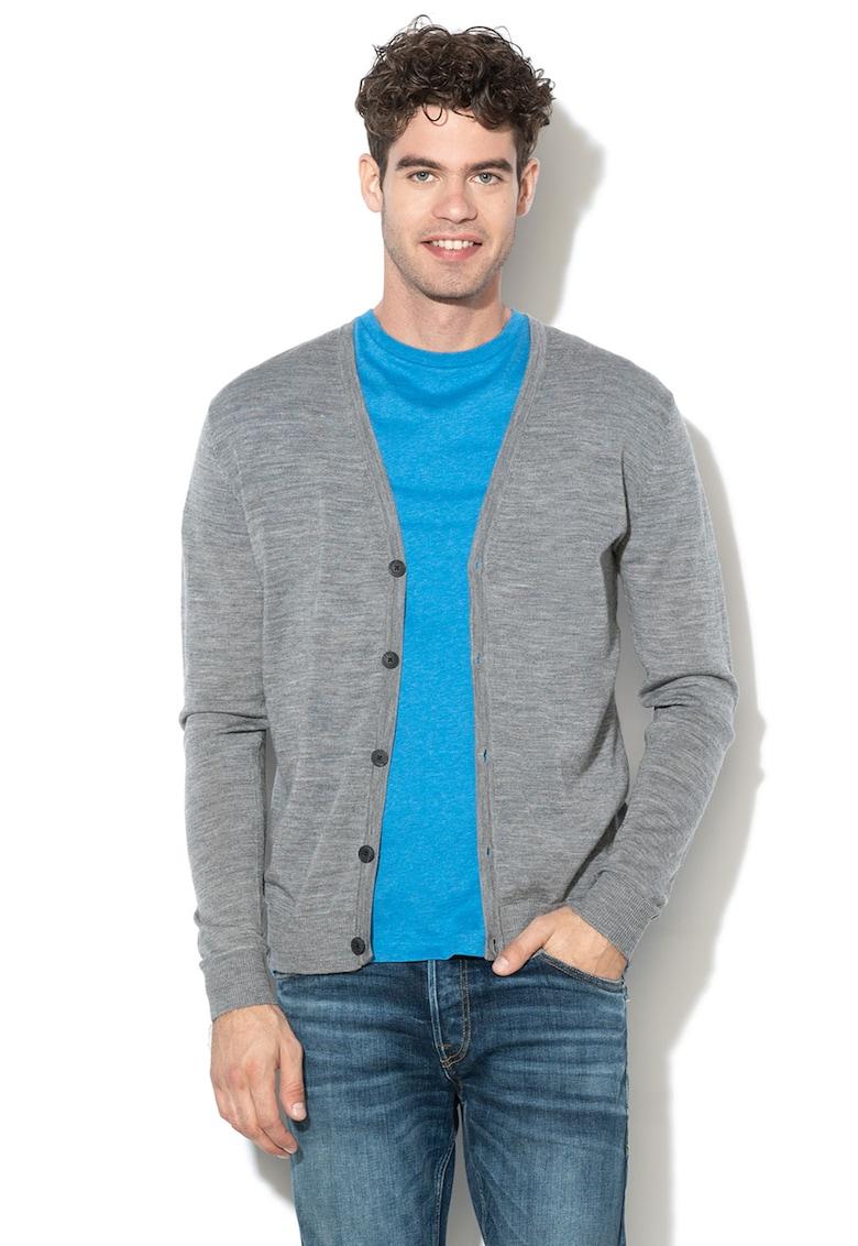 Cardigan de lana Merinos Mark imagine fashiondays.ro 2021
