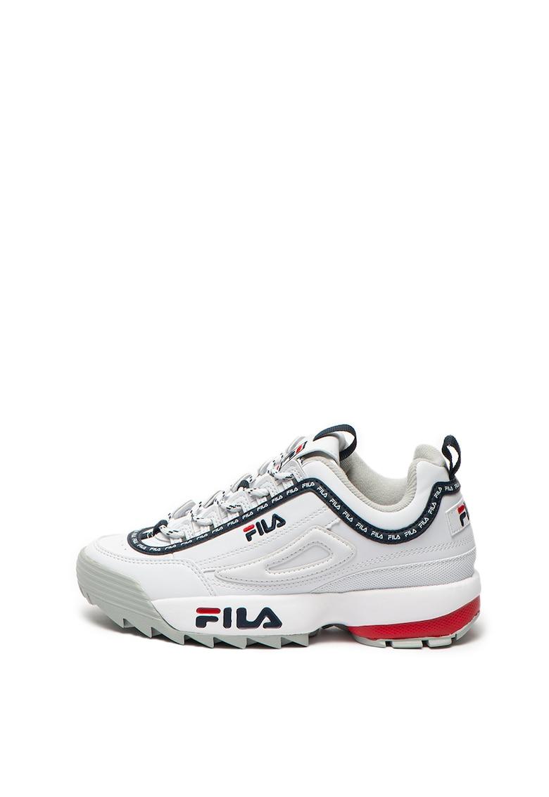 Pantofi sport de piele ecologica - cu logo contrastant Disruptor