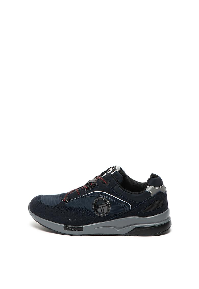 Pantofi sport cu insertii de piele intoarsa ecologica Kabir