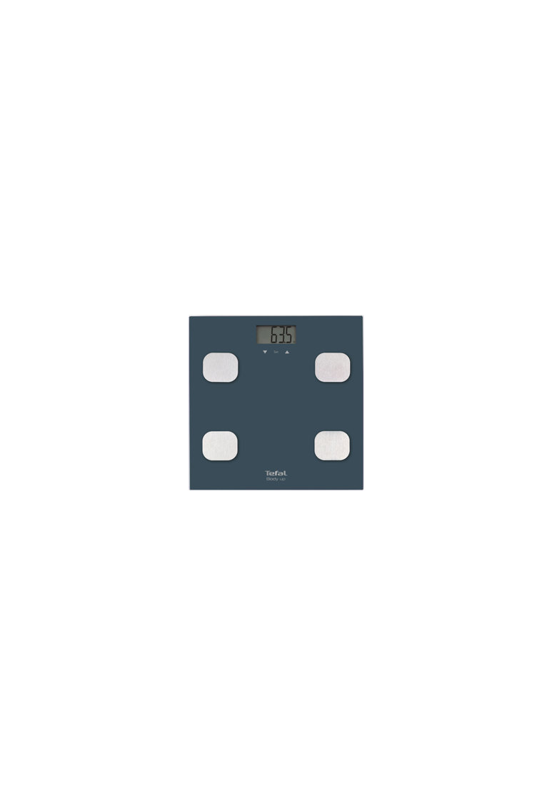 Tefal Cantar de baie  Body Up  - 150 kg - LCD - Sticla - 8 memorii - Indice de masa corporala - Albastru