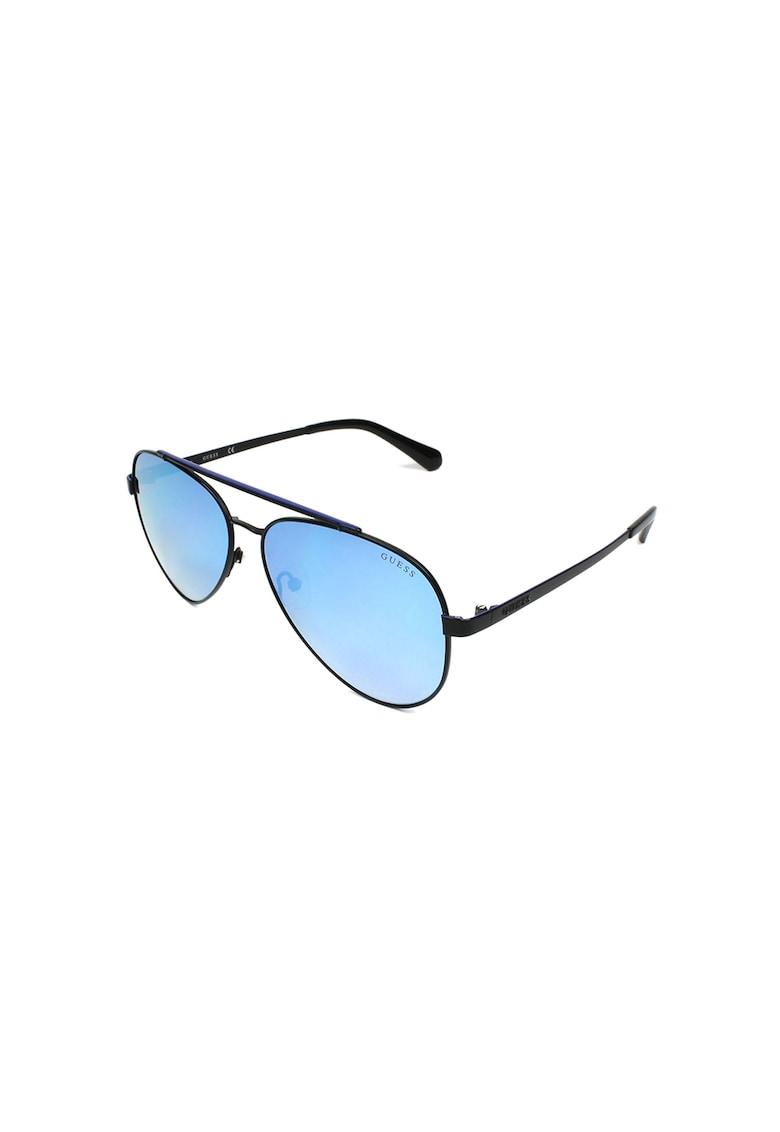 Ochelari de soare aviator cu rama de metal imagine fashiondays.ro Guess