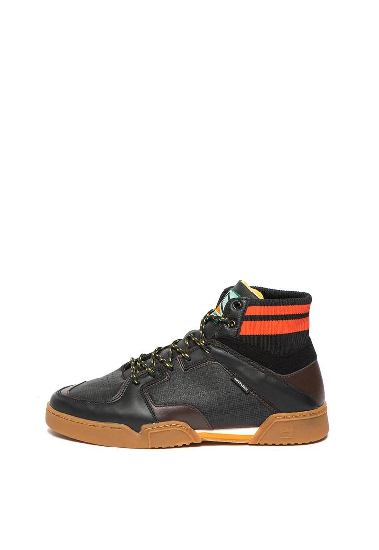Pantofi sport de piele - cu insertii din piele ecologica Tarda