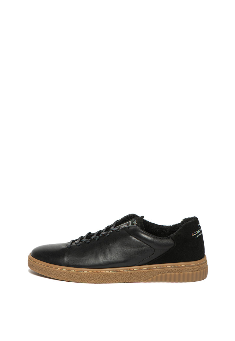 Pantofi sport de piele si piele intoarsa Brilliant
