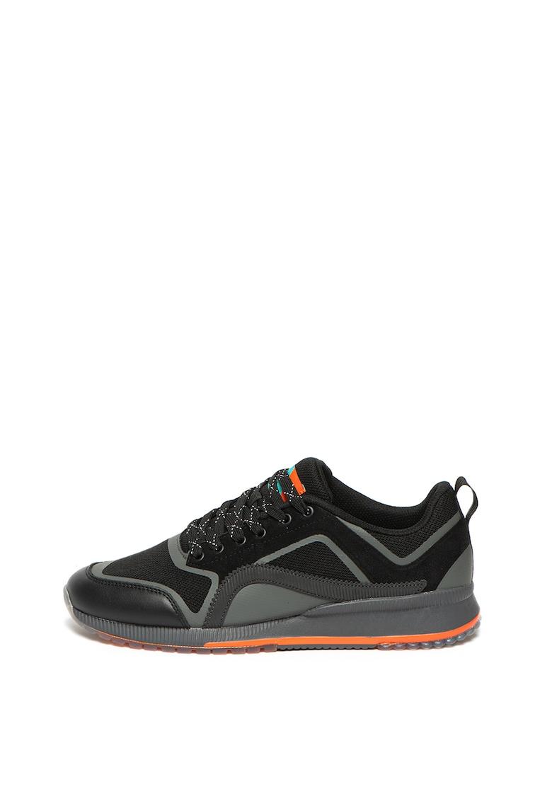 Pantofi sport cu insertii de piele intoarsa Vivex