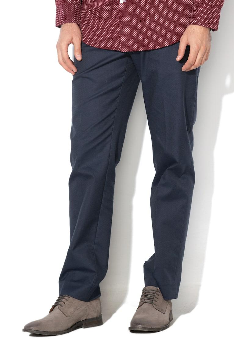 Pantaloni slim fit cu aspect texturat