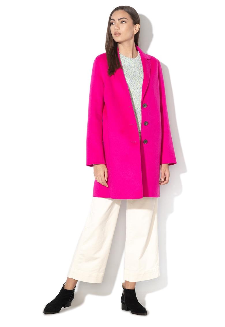 Palton din amestec de lana - cu croiala dreapta