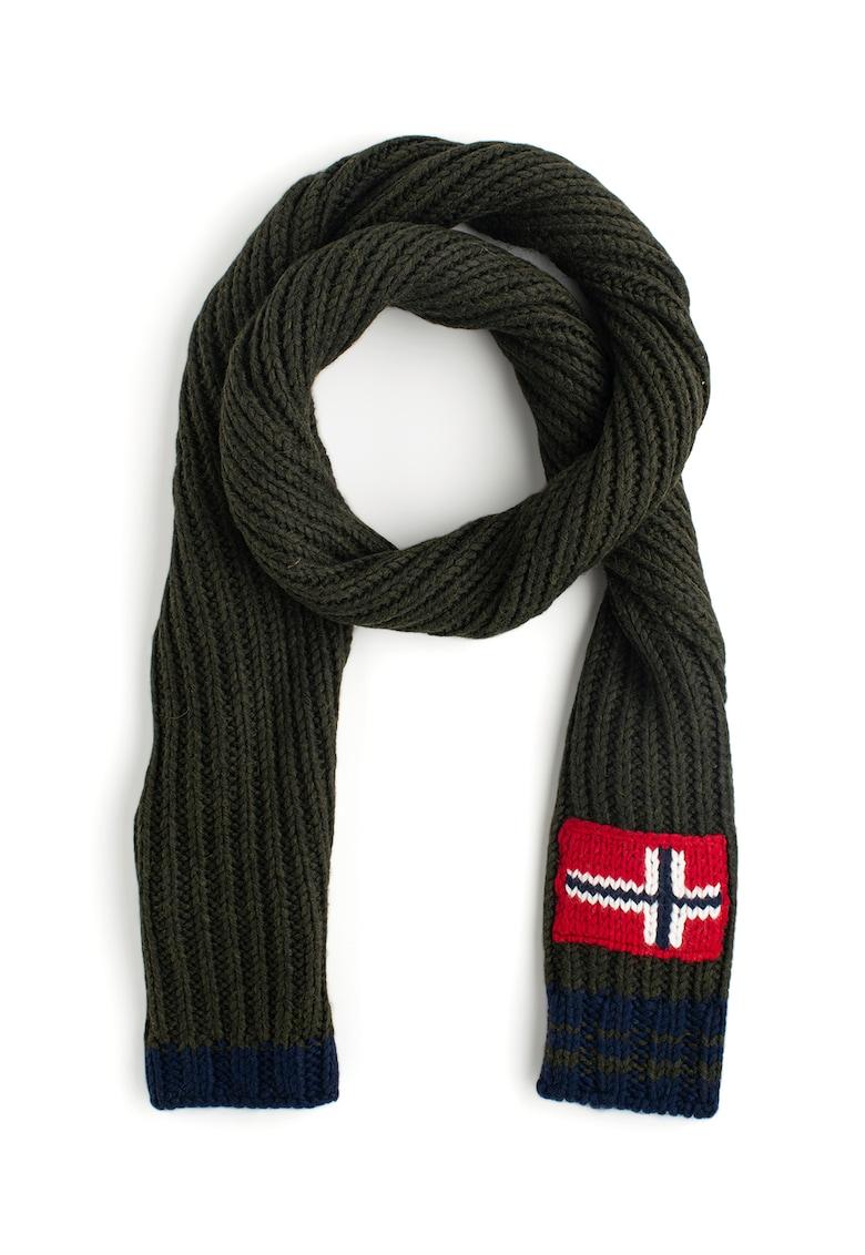 Fular din amestec de lana - cu detaliu steag norvegian Foreil