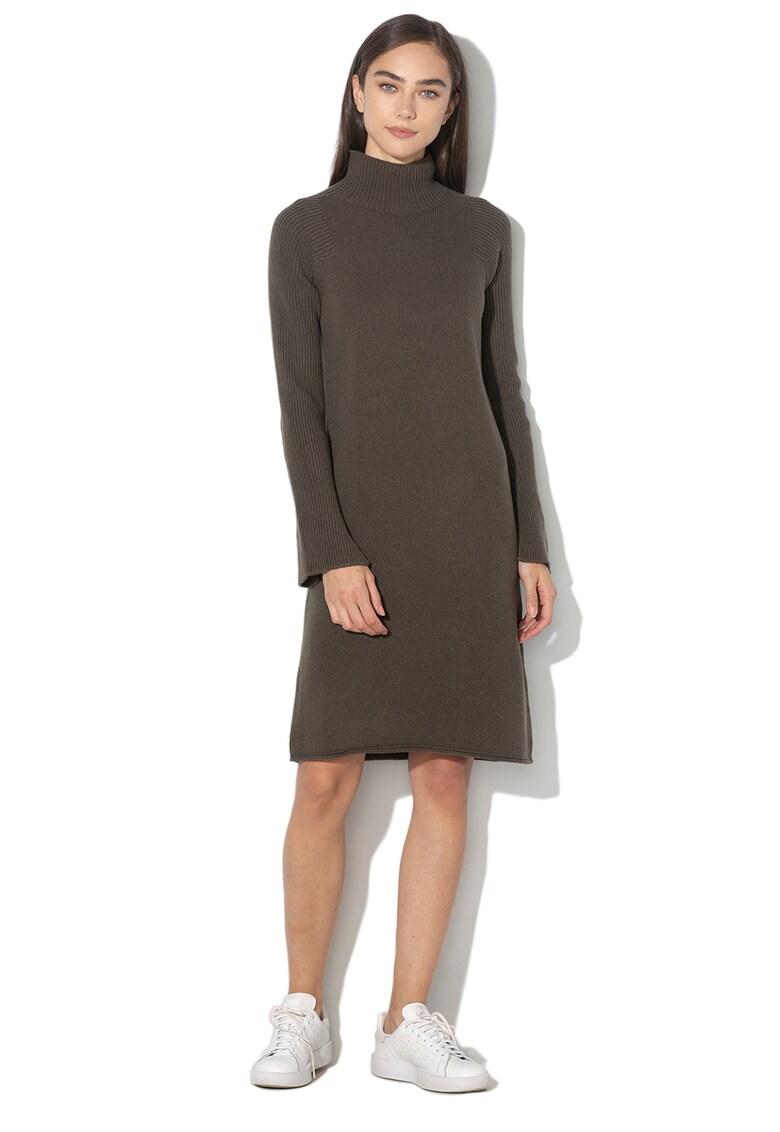 Rochie tip pulover din amestec de lana