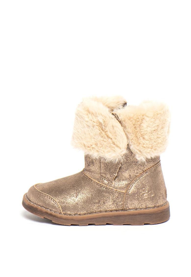 Cizme de piele ecologica - cu blana sintetica Alouna imagine fashiondays.ro