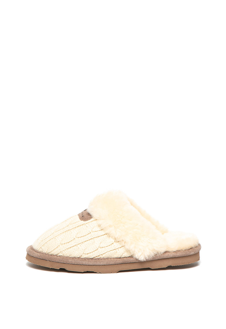 BEARPAW Papuci de casa cu model torsade si captuseala de lana Effie