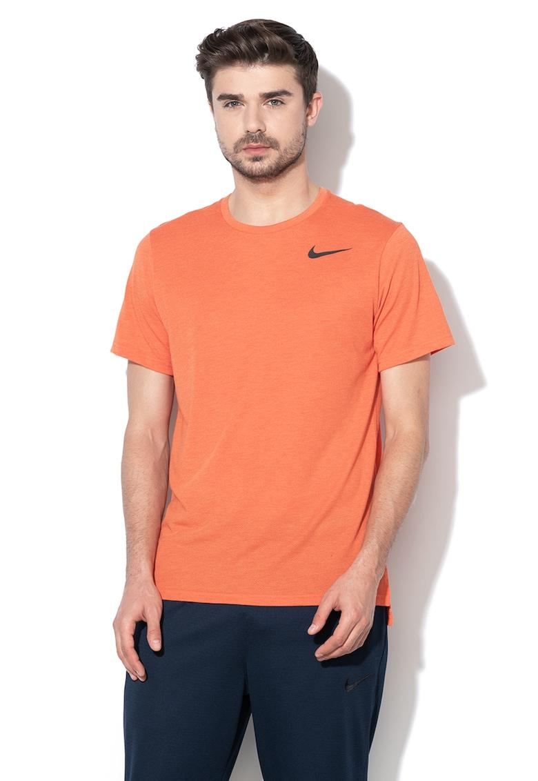 Nike Tricou cu imprimeu logo si Dri Fit pentru fitness