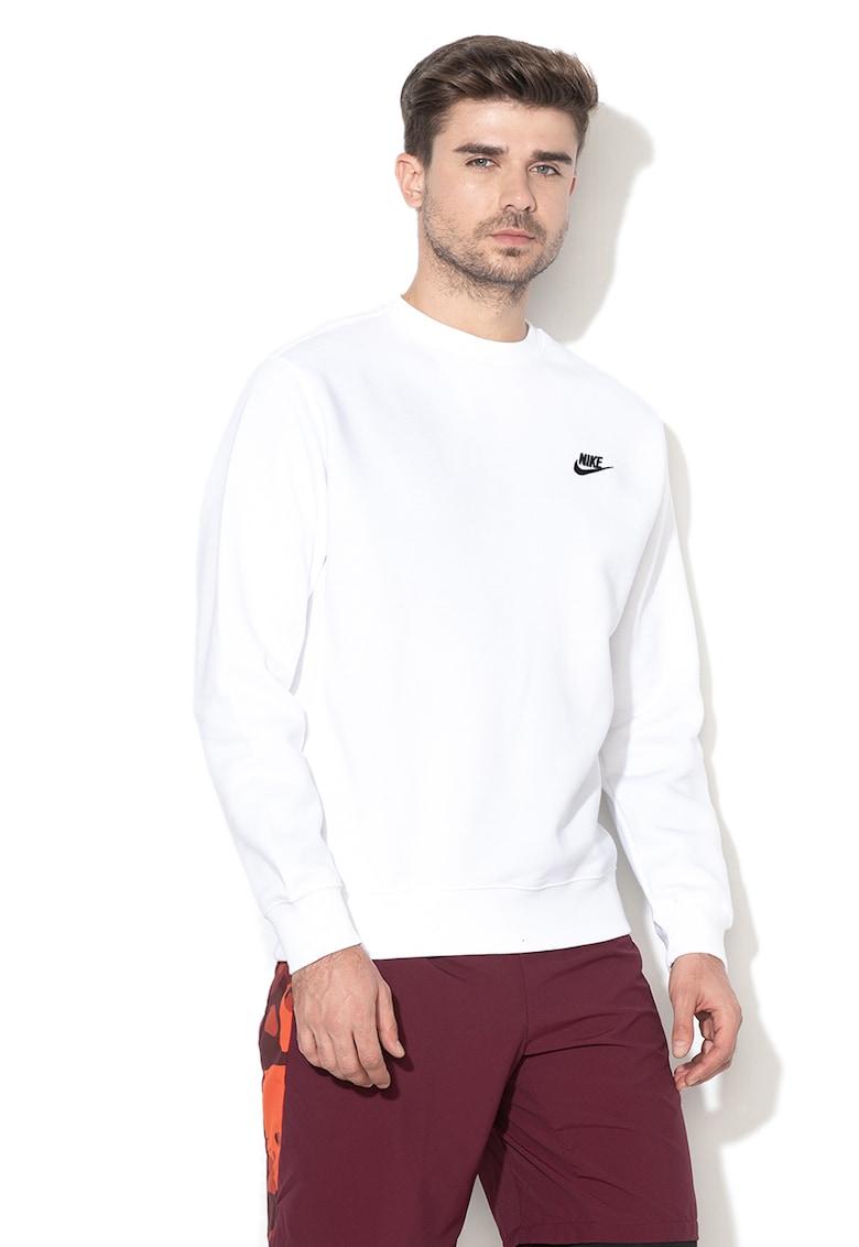 Bluza sport cu decolteu la baza gatului si logo brodat imagine