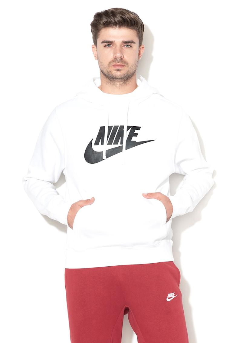 Hanorac cu captuseala din fleece si logo supradimensionat Club Nike