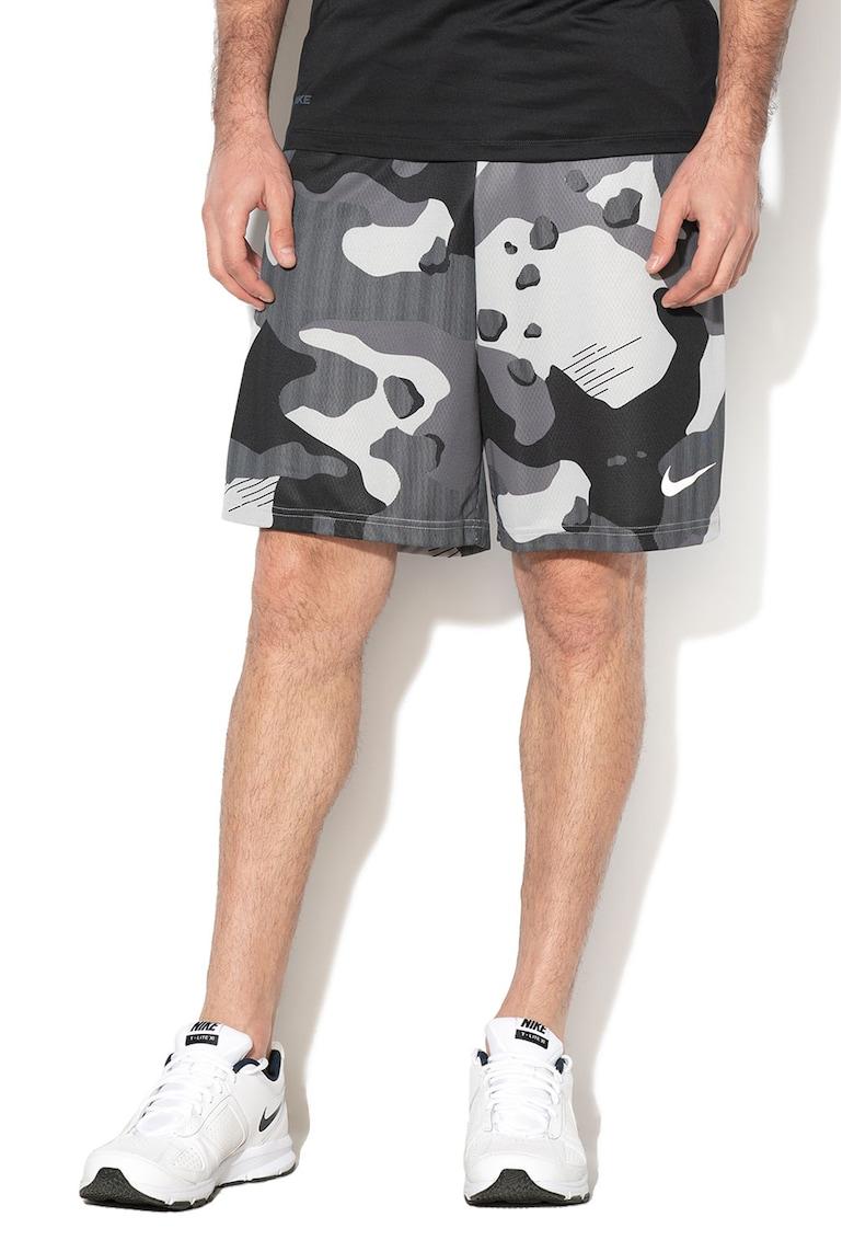 Bermude cu Dri Fit si imprimeu camuflaj - pentru fitness imagine fashiondays.ro 2021