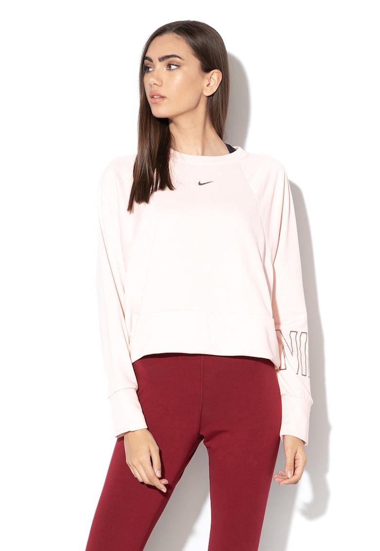 Bluza crop lejera realizata cu Dri-Fit - pentru fitness