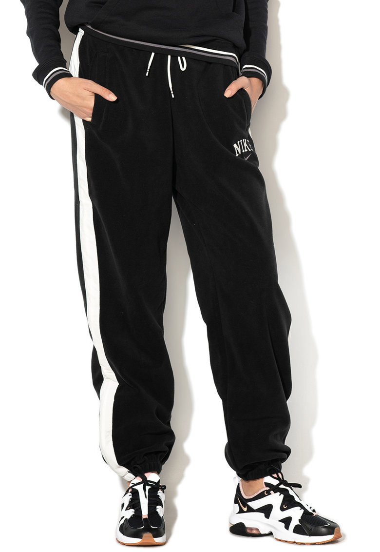 Nike Pantaloni sport din fleece - cu logo brodat
