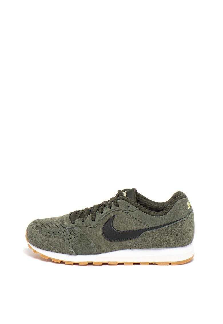 Pantofi sport de piele intoarsa - cu detalii perforate Md Runner 2