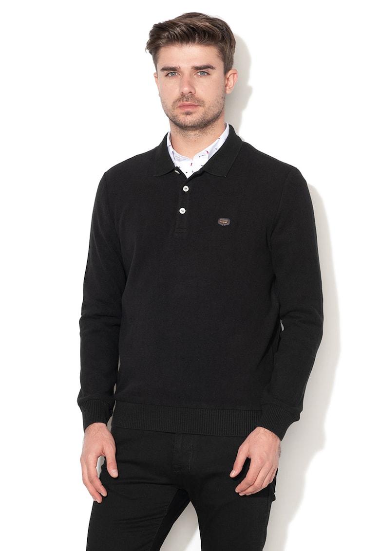 Pulover din tricot fin cu guler ascutit Birmingham